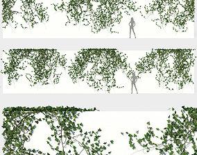 3D model Ivy Wall 03