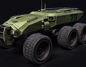 3D model Technical Vehicle transporter Green No 2