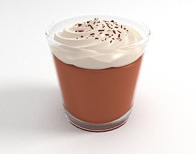 3D Chocolate Pudding Dessert