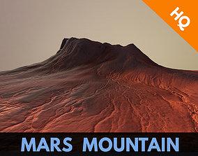 Mars Mountain Desert Terrain Landscape Sufrace 3D asset 1