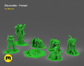 Discordia Forest board game 3D print model