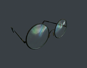 Old Glasses v2 3D asset