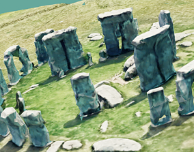 3D asset Ultra Low Poly Stonehenge Realistic Looking Game