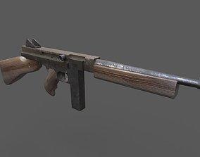 3D asset Thompson Submachine Gun