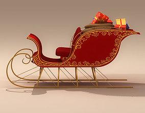Santa Claus Sleigh 3D model