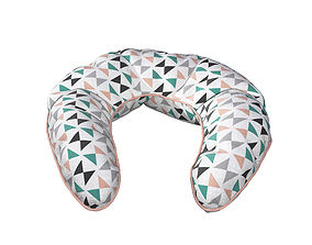3D model Neck Pillow - Triangles pattern