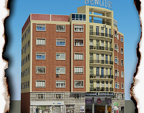 3D asset VR / AR ready apartment-building Building