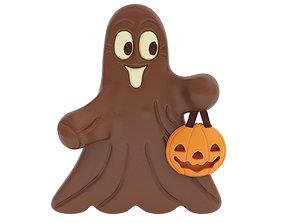 Chocolate ghost figurine 3D