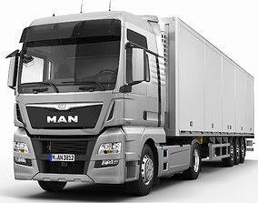 MAN TGX XXL Semi-Trailer 3D model