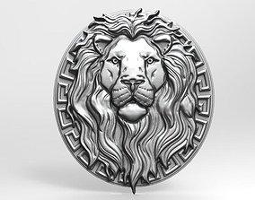 Lion bas-relief 3 CNC 3D print model