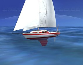 30 Foot Cutter Rigged Sloop V04 3D