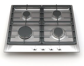 Miele 4-Burner KM 360 G Gas Cooktop 3D