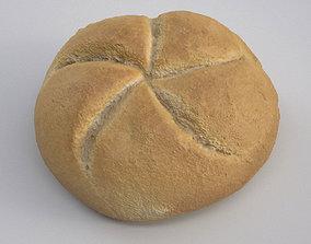 baking 3D model Kaiser Bread Roll