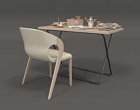 3D architecture Modern Office Furniture