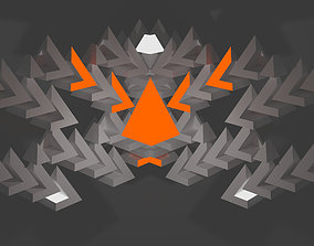 Abstract triangles 3D asset