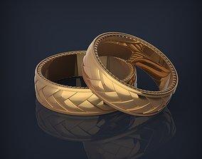 Braided jewelry fashion wedding rings 3d print model