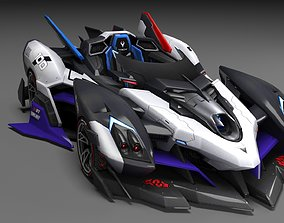 SuperCar Fire Line Chase 3d Model QQ Speed