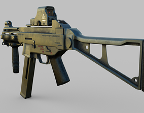 3D model defence Machine Gun
