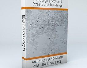 Edinburgh Streets and Buildings 3D model roads