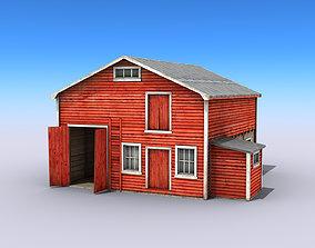 3D model Big Wooden Warehouse