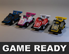 Lego race cars 3D model