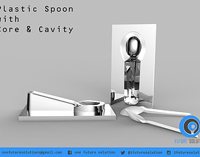 Plastic Spoon with Core and Cavity spoon 3D model