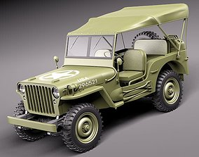 3D Jeep Willys MB