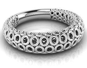 Circle shaped ring 3D print model