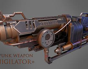 Steampunk Weapon 3D model