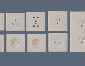 power outlets pack 3D model