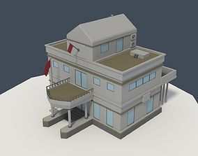 Low Poly Consulate Building 3D model