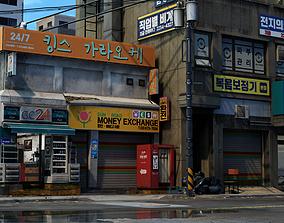 3D model game-ready Korean Corner Store - UE4