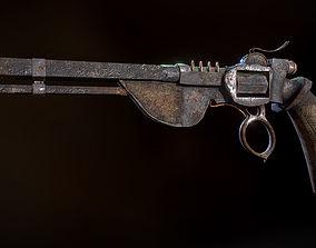 Apocalyptic gun 3D asset