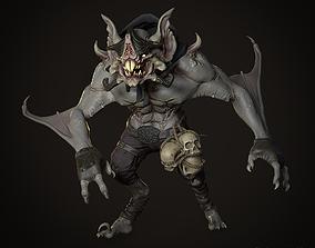 Bat Wyvern Lowpoly 3D model