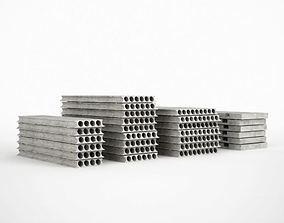 Industrial Concrete Plates 3D model
