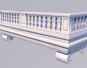 3D model low-poly Balcony