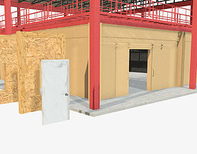 3D model Special forces training shoothouse and modular 1