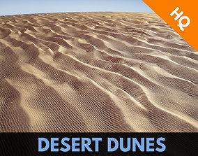 Dunes Low Poly Sahara Terrain Ground Sand Egypt 3D asset 1