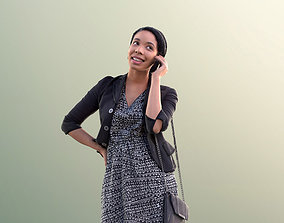 3D asset Yanelle 10096 - Black Woman Talking On Phone