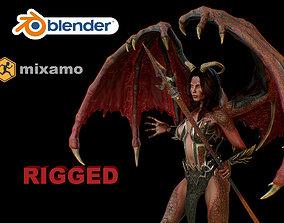demon 3D asset rigged