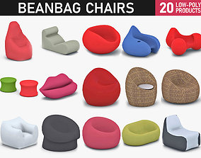 Bean Bag Chairs Collection 3D model
