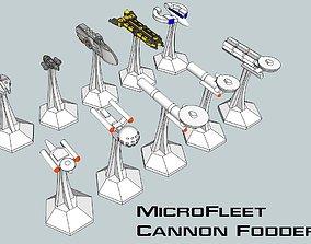 3D printable model MicroFleet Scenario-Fodder Starship