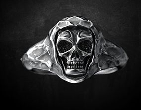 Ring for skull for bikers 3D printable model