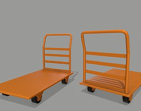 Trolley 3D asset low-poly
