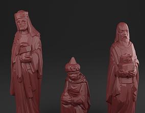 3D model Three holy kings - Christmas Crib figurines