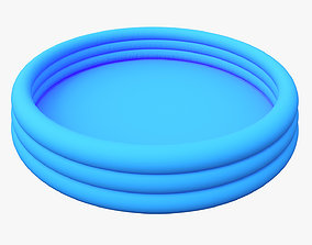 Outdoor Kids Inflatable Swimming Pool 3D model