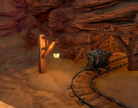 3D model Canyon Mining Environment Pack