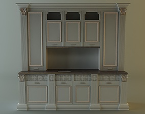 oven 3D Kitchen cabinet