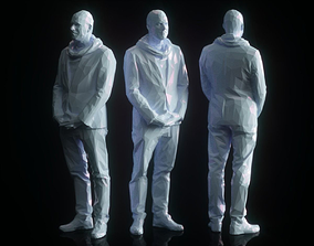 3D model Man Waiting Low Poly