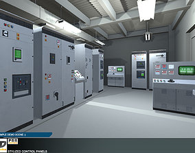 Stylized Control Panels 3D model